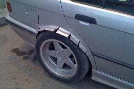 25 funniest diy car repair fails 6 sick fender flares bro solutioingenieria Images