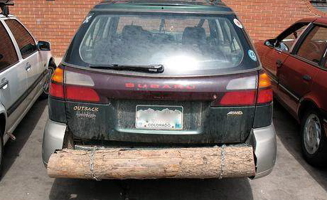 25 funniest diy car repair fails 10 wood its what makes a subaru a subaru solutioingenieria Images